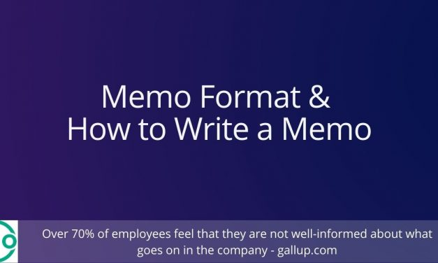 Memo Format and How to Write a Memo