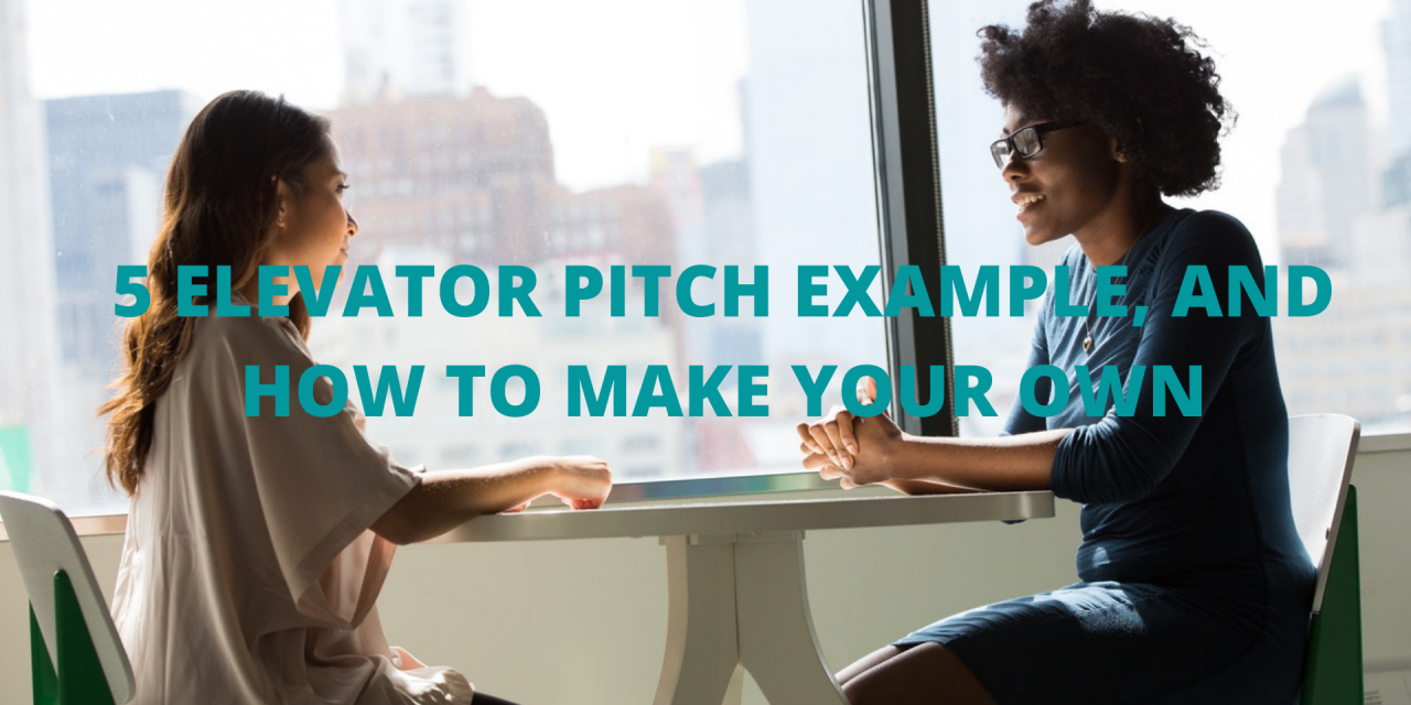 5 Elevator Pitch Example, and How to Make Your Own